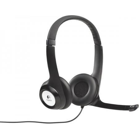 Logitech H390 slušalice s mikrofonom, USB, crna