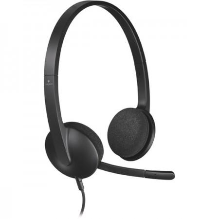 Logitech H340 slušalice s mikrofonom, USB, crna