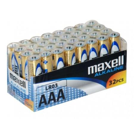 Maxell alkalne baterije LR-3/AAA, 32 komada
