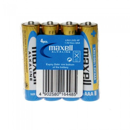 Maxell alkalne baterije LR-3/AAA, 4kom, shrink