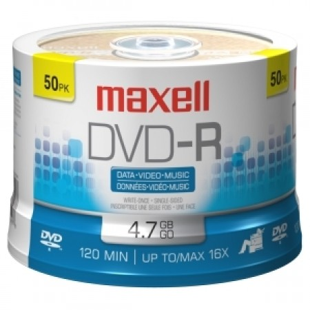 Maxell DVD-R 16x, 4.7GB 50 kom spindle