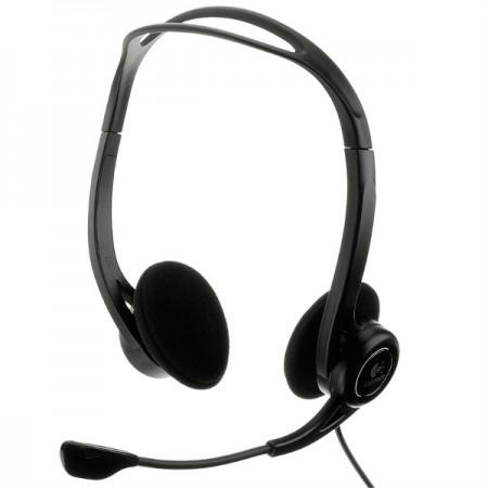 Logitech PC 960 slušalice s mikrofonom, USB, crna