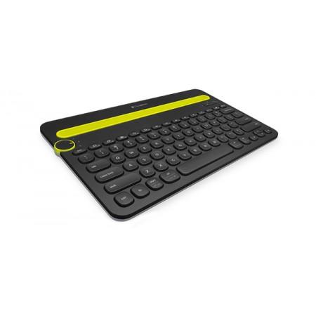Logitech K480 Bluetooth tipkovnica, stalak, crna