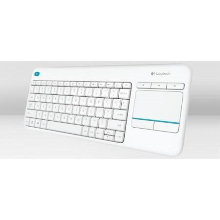 Logitech K400+ bežična tipkovnica+touchpad, bijela
