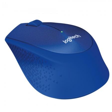 Logitech M330 Silent+ bežični optički miš, plava