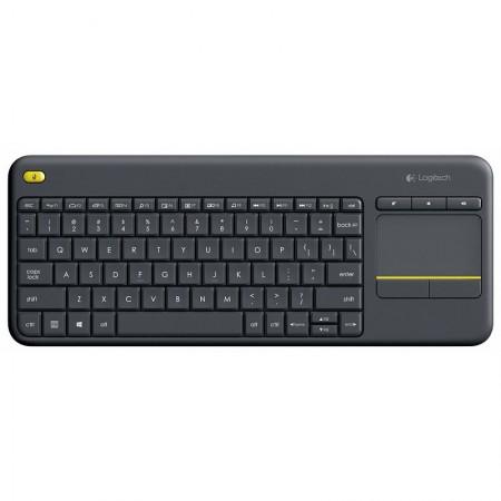 Logitech K400+ bežična tipkovnica+touchpad, crna