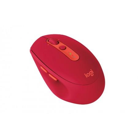 Logitech M590 Silent bežični optički miš, crvena