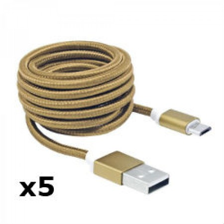 SBOX kabel USB 2.0 M-micro USB M, 1,5m,zlatni,5kom