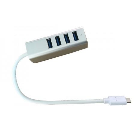 Asonic 4Port Hub USB 3.0,Tip C,aluminijsko kućište