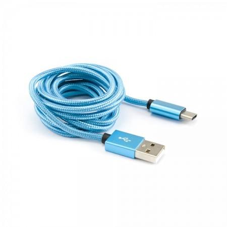 SBOX kabel USB 2.0 - USB tip C, plavi, 1.5m, 3 kom