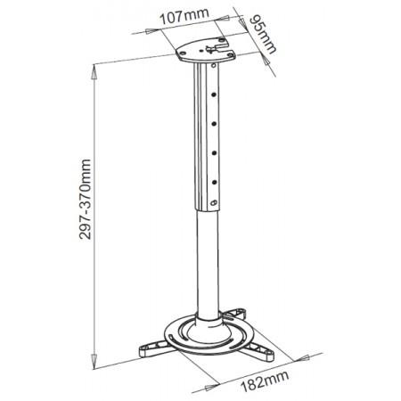 SBOX stropni nosač projektora PM-102,do 15kg,370mm