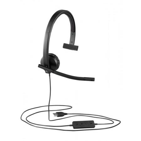 Logitech H570e Mono slušalice s mikrofonom, USB