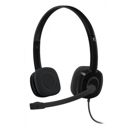 Logitech H151 slušalice s mikrofonom, stereo, crna