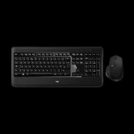 Logitech MX900 bežična tipkovnica i miš, crna
