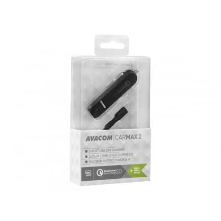 Avacom autopunjač CarMAX 2,2xQuickCharge2.0,USB-C