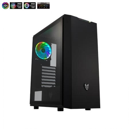 Fortron CMT 350 TG, RGB, 3x vent., crno, bez napaj