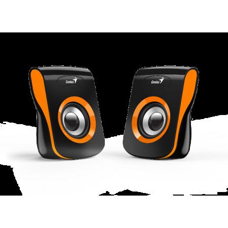 Genius zvučnici SP-Q180, 6W, USB + 3,5mm, narančas
