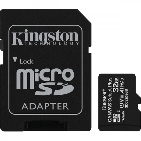 Kingston microSDXC, Select plus, Class10, 32GB