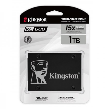 Kingston SSD KC600, R550/W520,1024GB, 7mm, 2.5