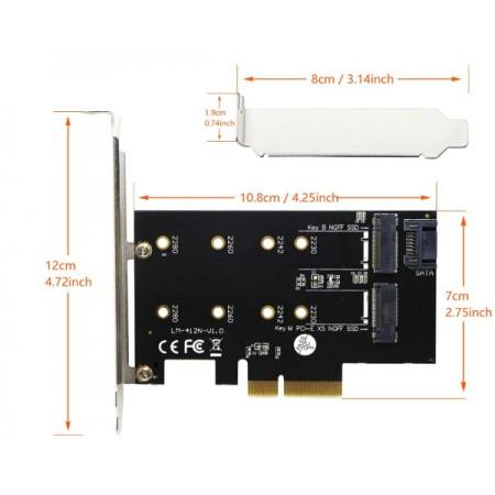 Asonic Dual M.2 Nwme PCIE, LP adapter