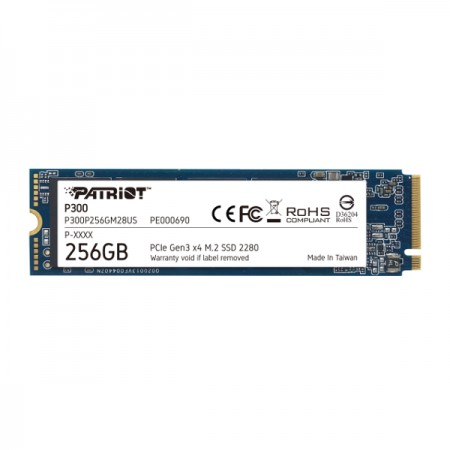 Patriot SSD P300 R1700/W1100, 256GB, M.2 NVMe