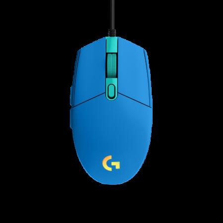 Logitech G203 LIGHTSYNC gaming miš, optički, plavi