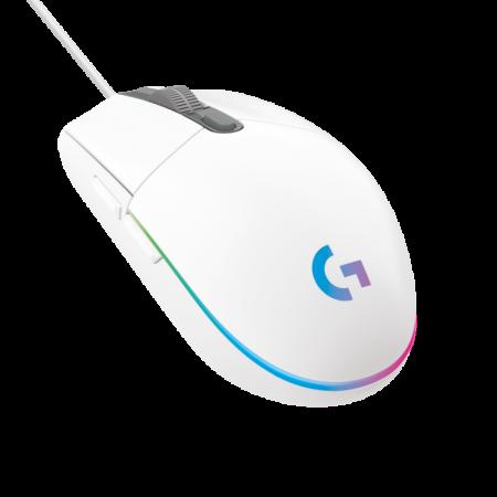 Logitech G203 LIGHTSYNC gaming miš, RGB, bijeli