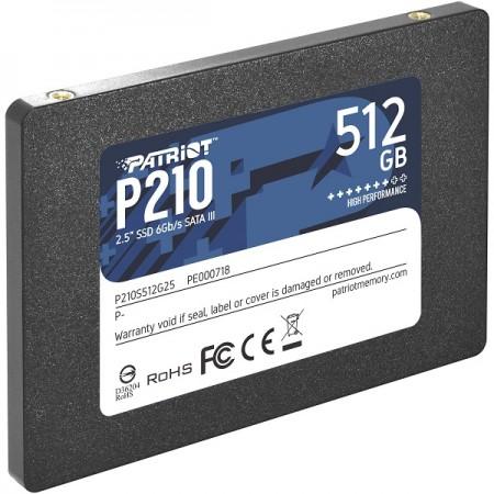 Patriot SSD P210 R520/W430, 512GB, 7mm, 2.5