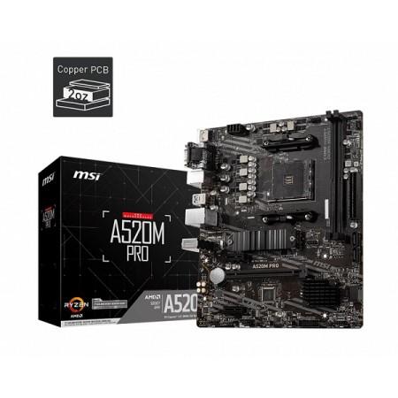 MSI A520M PRO, AM4, DDR4, U3,mATX