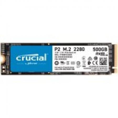 CRUCIAL P2 500GB SSD, M.2 2280, PCIe Gen3 x4, Read/Write: 2...