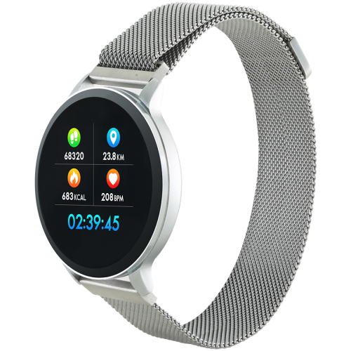 Smart watch, 1.22inch colorful LCD, 2 straps, metal strap a...