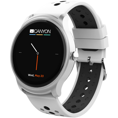 Smart watch, 1.3inches IPS full touch screen, Silver Alloy+...
