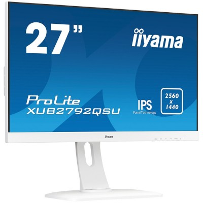 "IIYAMA Monitor Prolite, 27"" WHITE, ETE ULTRA SLIM LINE, 256..."