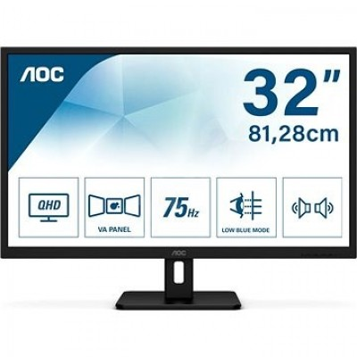 "AOC LED IPS 31,5"" Q32E2N, HDMI, DP, zvu. 75Hz"