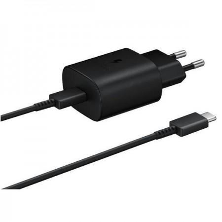 Samsung brzi kućni punjač + USB Type-C kabel, crni