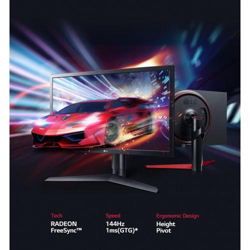 LG 24GL650,  FHD, 2xHDMI, DP, AMD, 144Hz, 1ms