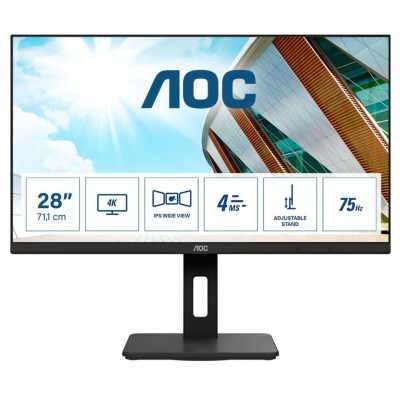 "AOC LED 28"" U28P2A, 4K, 2xHDMI, 2xDP, USB, HAS, zv"