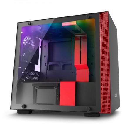 NZXT H210i pametno kućište, crveno bez nap., ITX