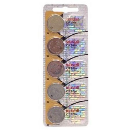 Maxell lit. dugm. baterija CR2016,5kom, blister